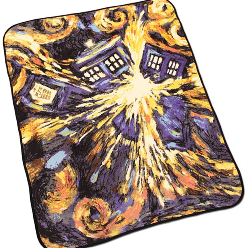 Doctor Who TARDIS Blanket Coral Fleece Carpet