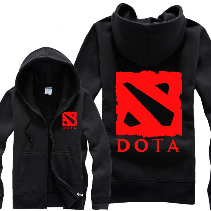 Dota 2 Logo Cool Zip Hoodies