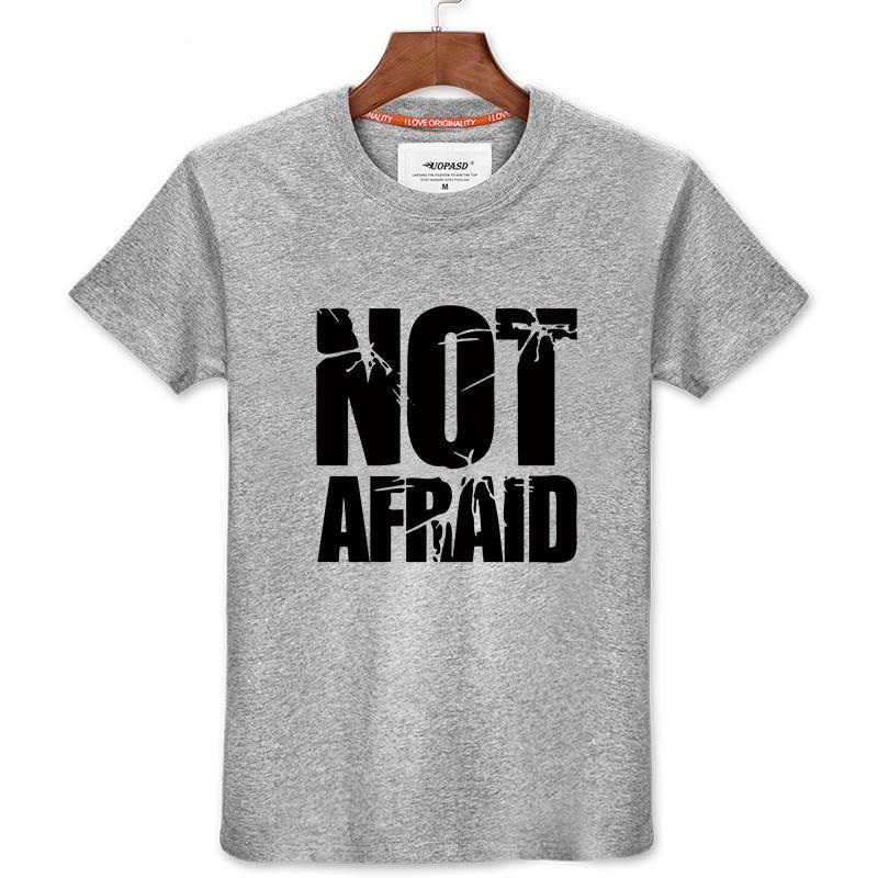 Eminem Not Afraid Hip-Hop Style Tee Shirt T-shirt