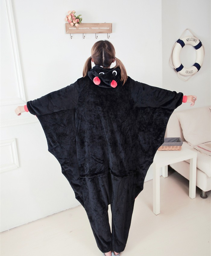 Bat Onesies Pajamas Unisex Flannel Kigurumi Onesies Winter Animal Pajamas For Adults