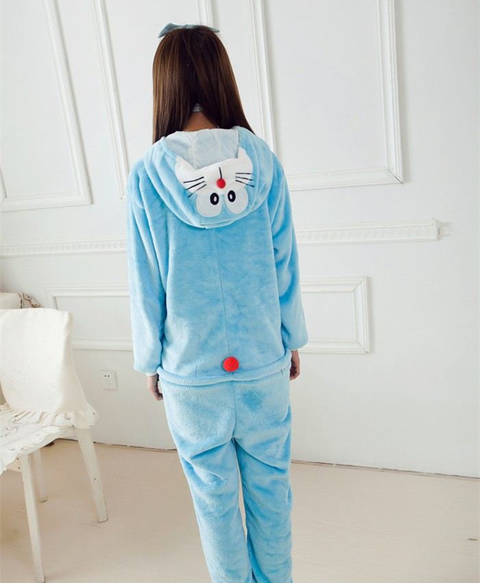 Doraemon Onesies Pajamas Unisex Flannel Kigurumi Onesies Winter Animal Pajamas For Adults