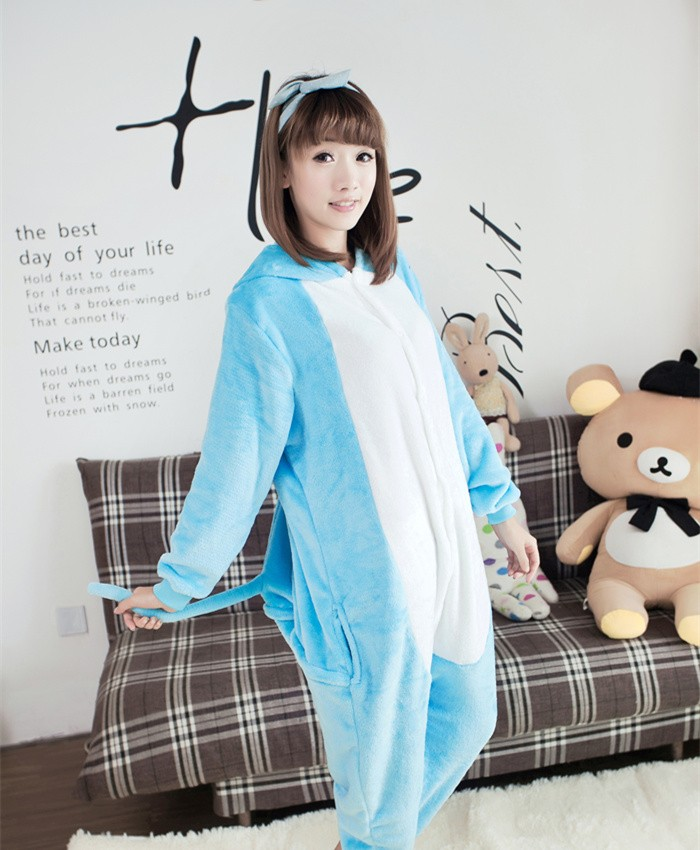 Hippo Onesies Pajamas Unisex Flannel Kigurumi Onesies Winter Animal Pajamas For Adults