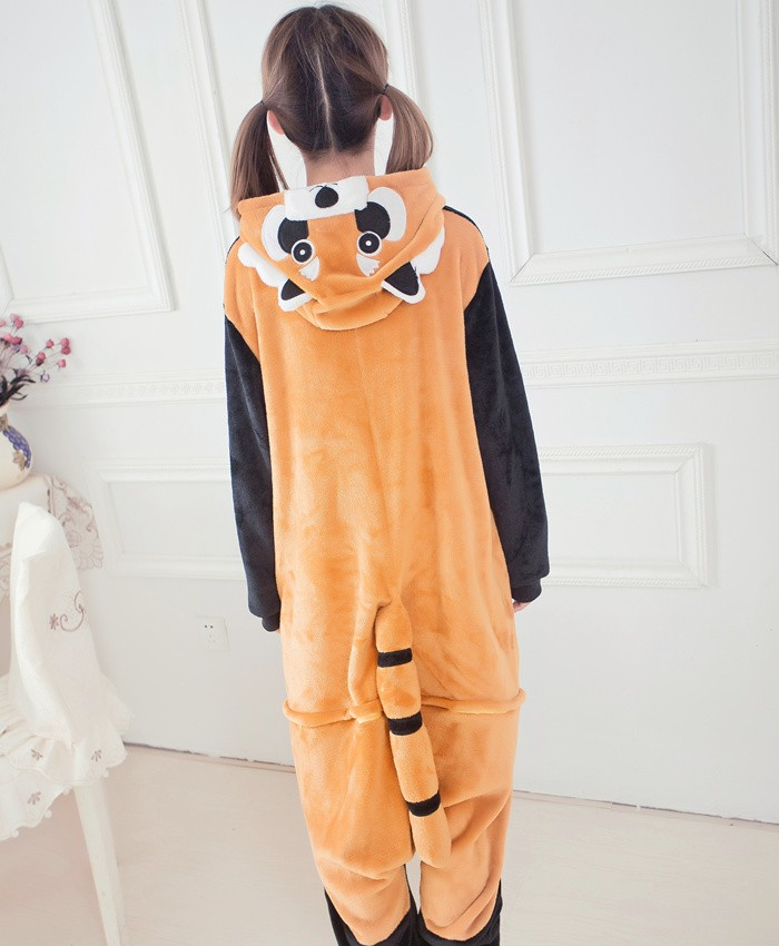 Raccoon Onesies Pajamas Unisex Flannel Kigurumi Onesies Winter Animal Pajamas For Adults