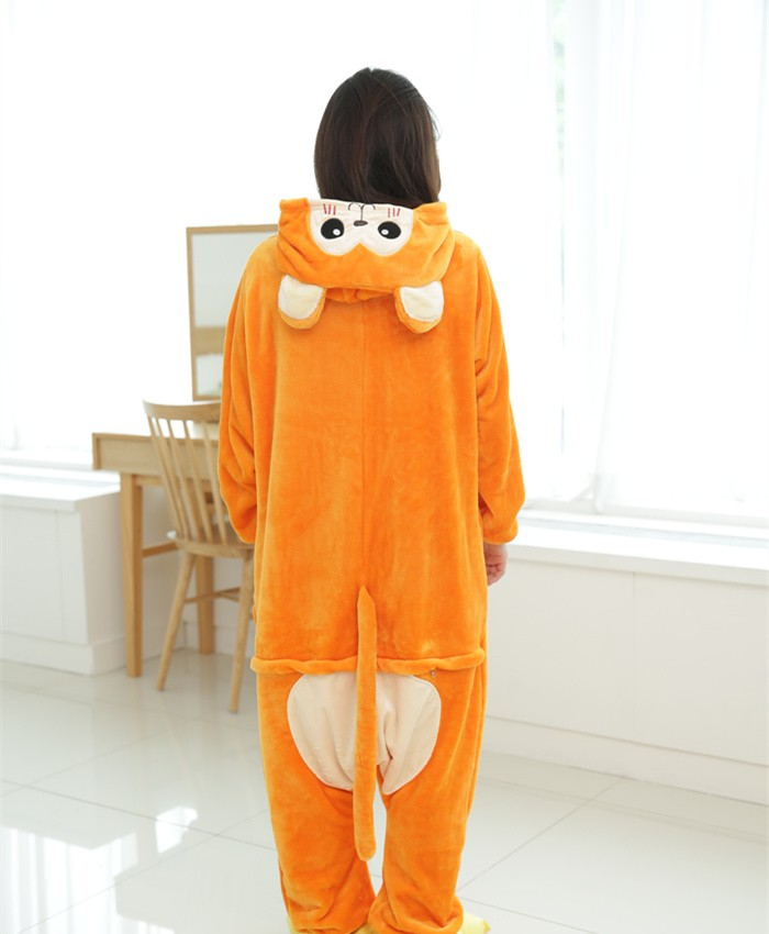 Snub-Nosed Monkey Onesies Pajamas Unisex Flannel Kigurumi Onesies Winter Animal Pajamas For Adults