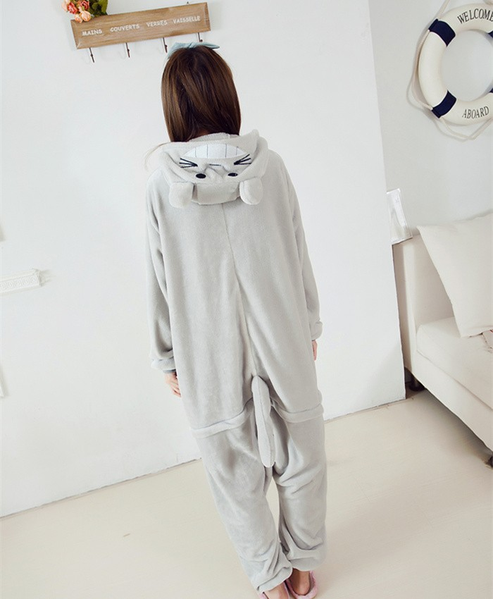 Totoro Onesies Pajamas Unisex Flannel Kigurumi Onesies Winter Animal Pajamas For Adults