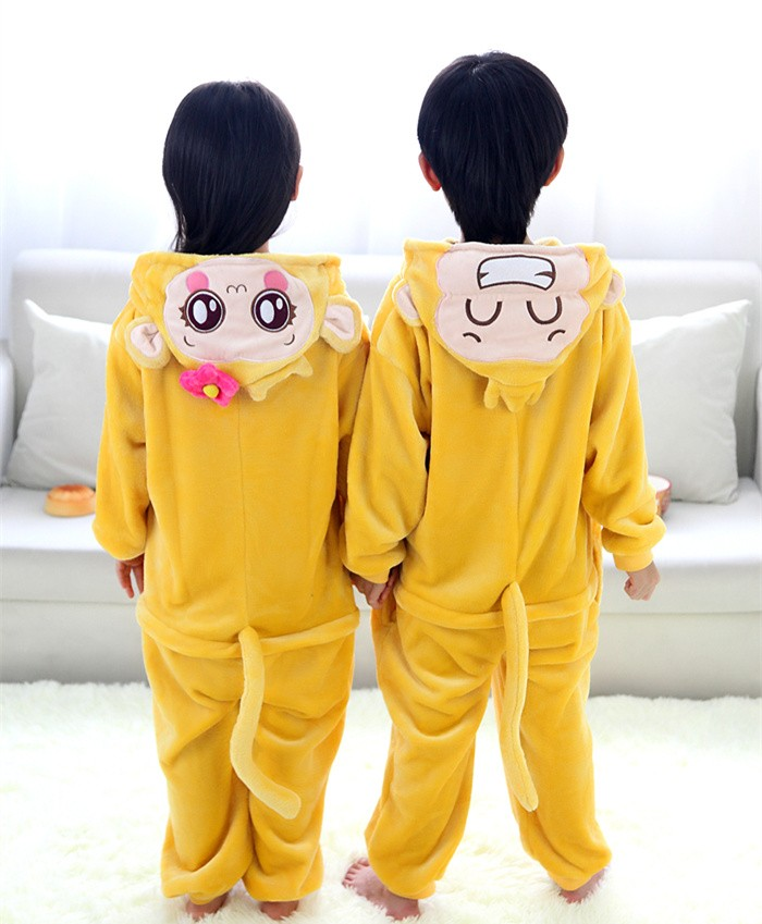 Yoci Onesies Pajamas Flannel Children Kigurumi Onesies Winter Animal Pajamas For Kids