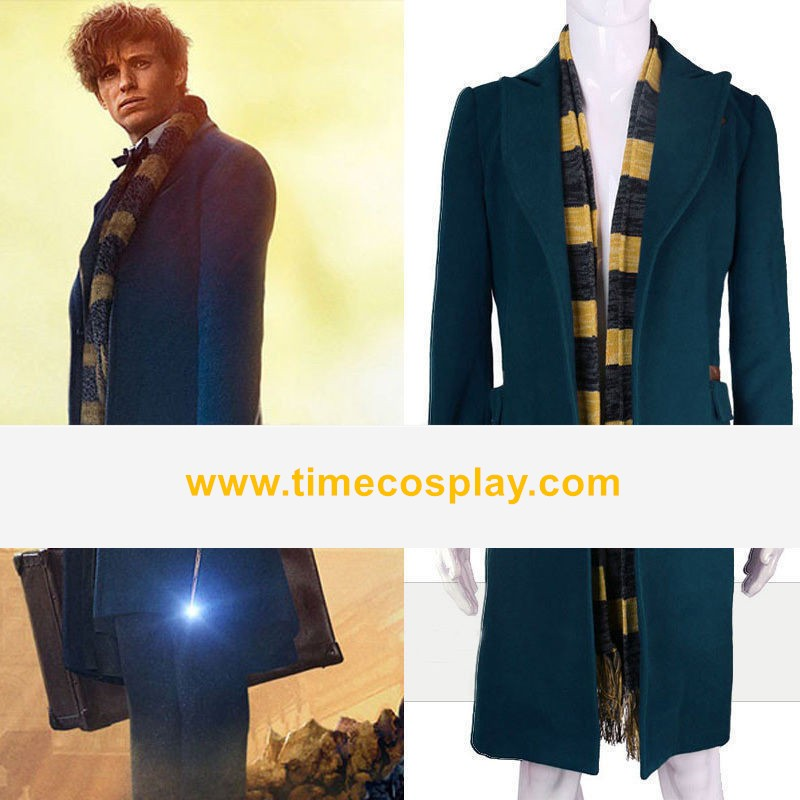 Fantastic Beasts and Where to Find Them Newt Scamander Coat Cosplay Costume - Wool Version