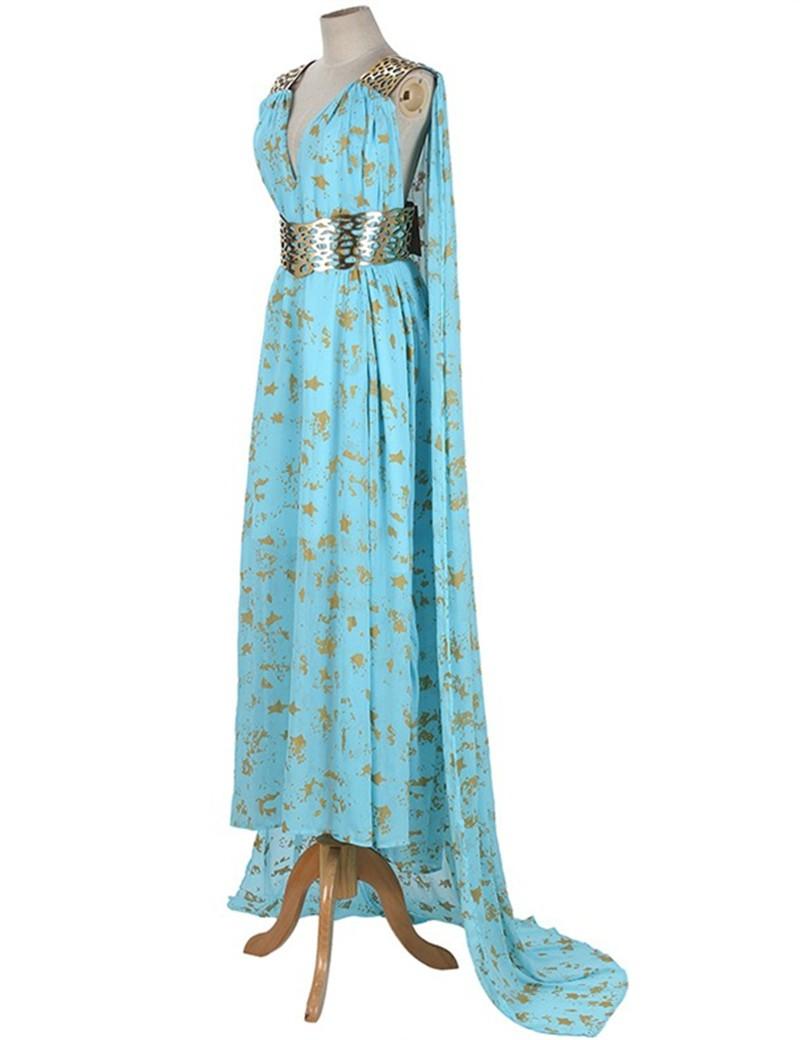 Game Of Thrones Season 2  Daenerys Targaryen  Blue Dress Costume
