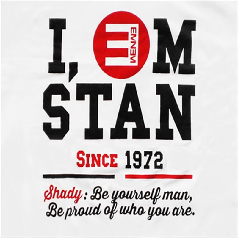 I EM STAN Eminem Hip-Hop Style Tee Shirt T-shirt