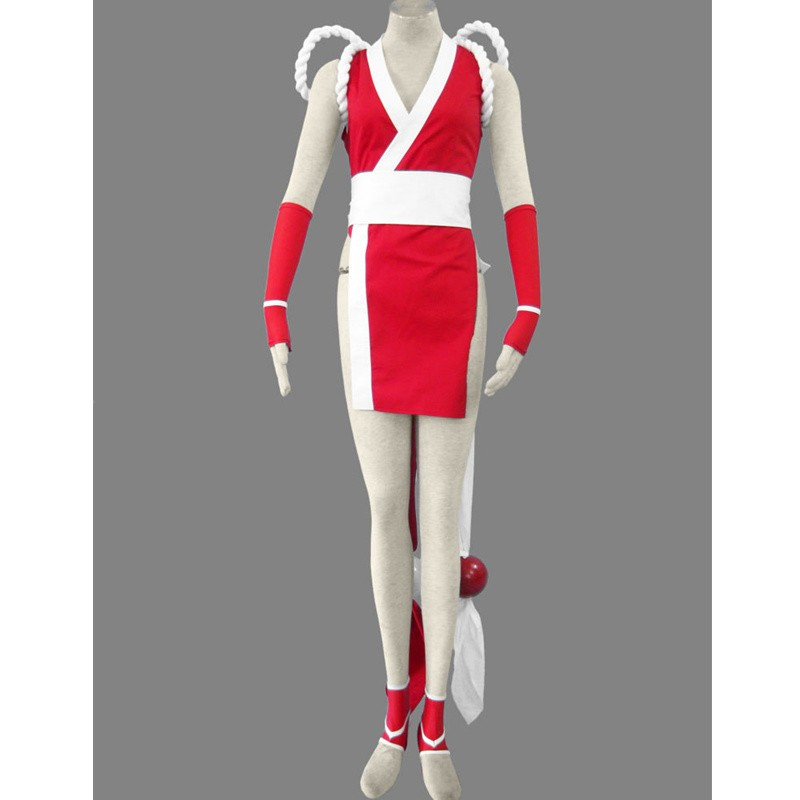 KOF THE KING OF FIGHTERS Mai Shiranui Cosplay Costume - Deluxe Version
