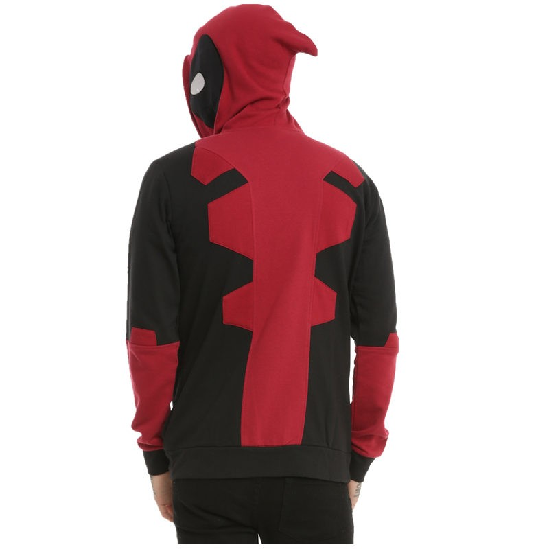 Marvel Deadpool Cosplay Full Zip Hoodie
