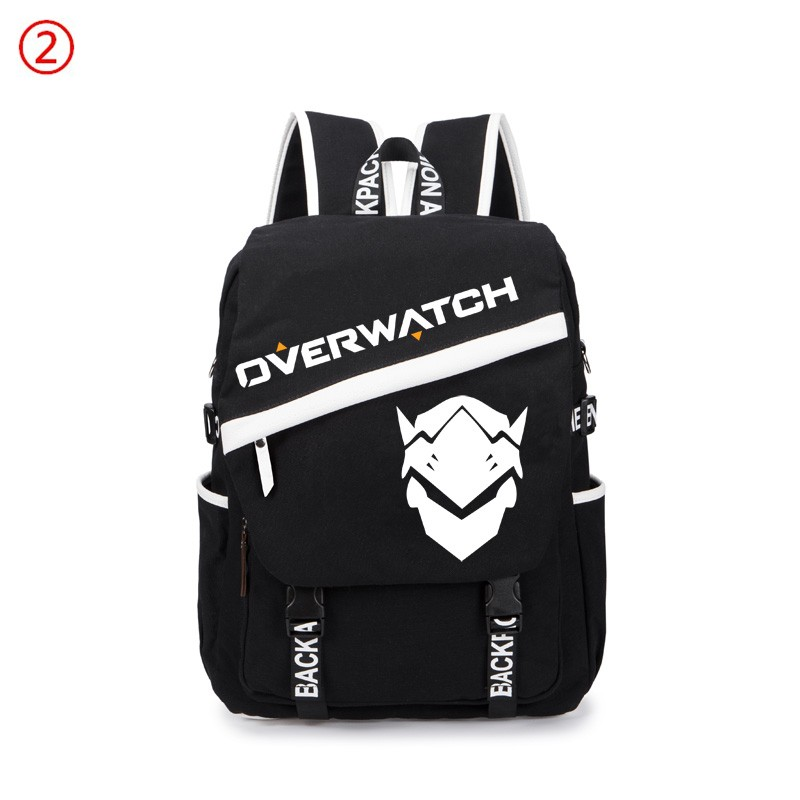 Overwatch Icon Genji Reaper Backpacks Schoolbags