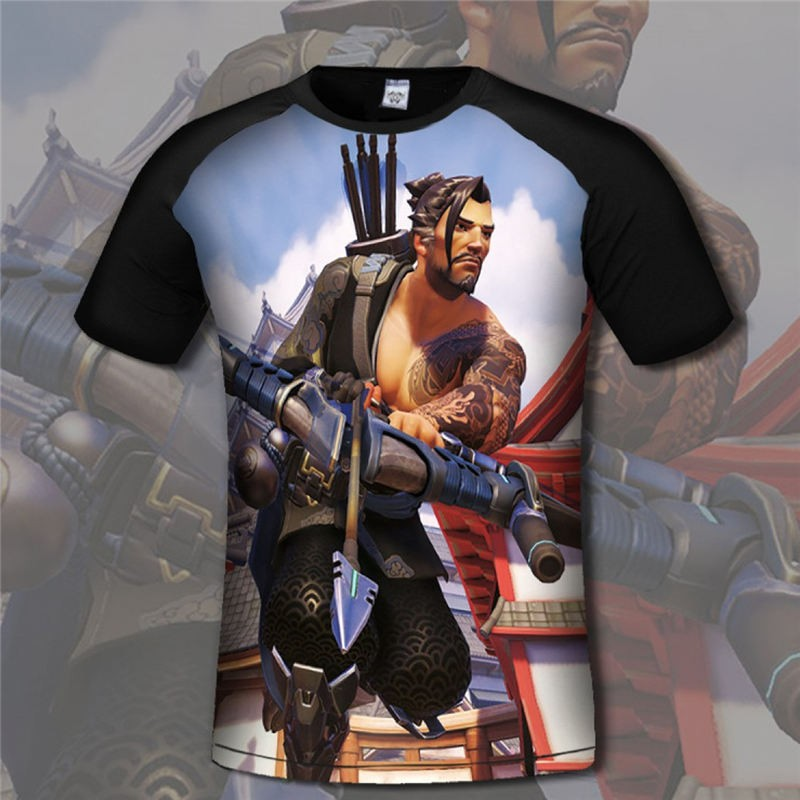 Overwatch Hanzo 3D Print Men T-Shirts