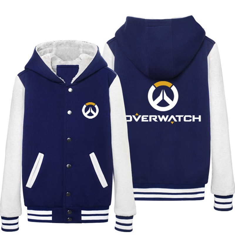 Overwatch Icon Hoodie Baseball Jacket Overcoat