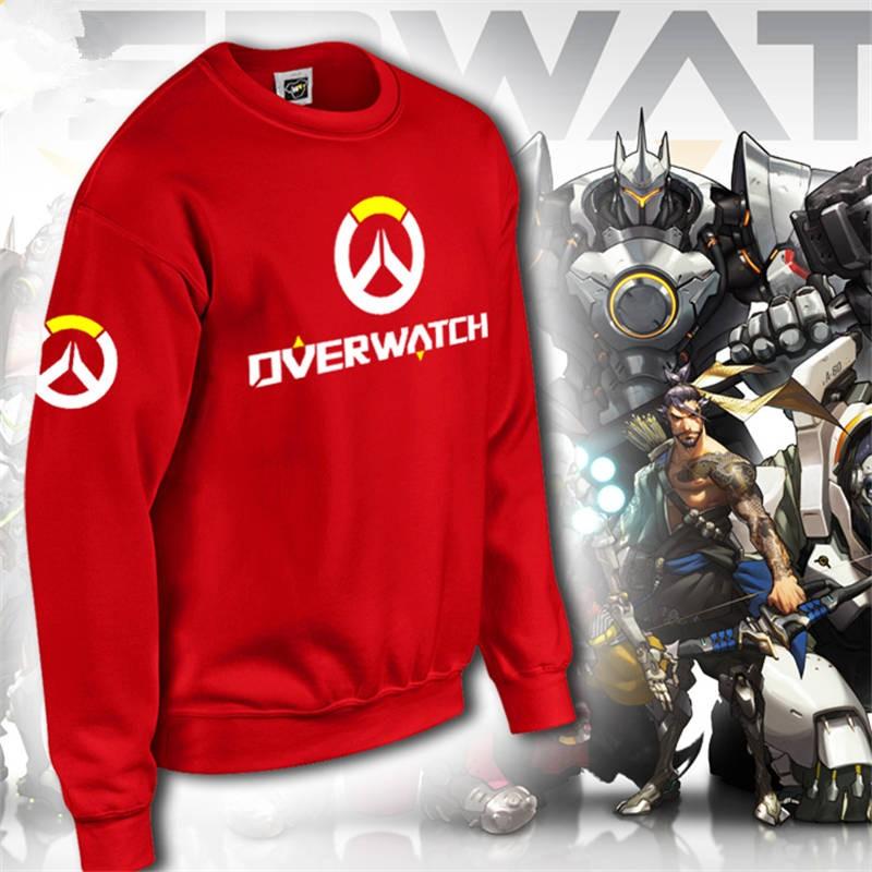 Overwatch Icon Men's Zipper Hoodie Long Tee Shirt