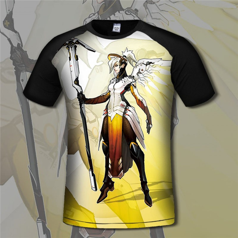 Overwatch Mercy 3D Short Sleeve T-shirt