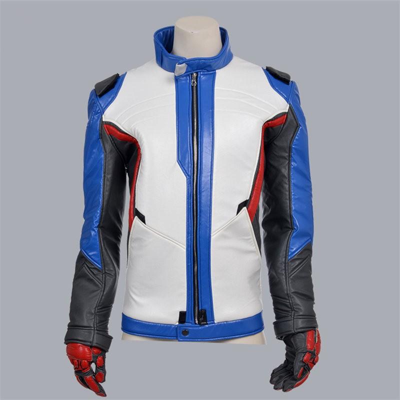 Overwatch Soldier 76 Coat Jacket Cosplay Costumes