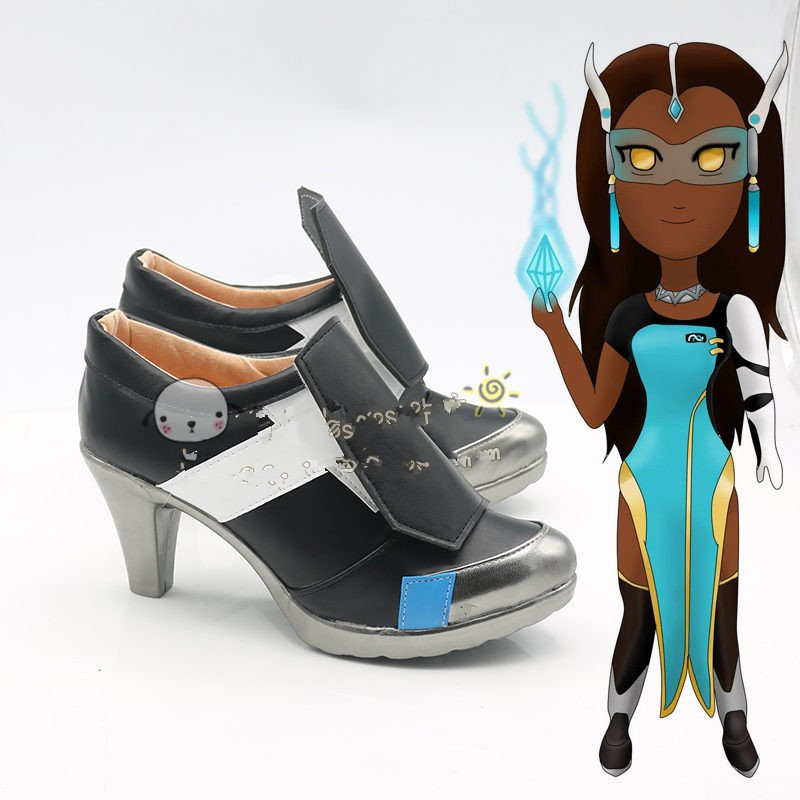 Overwatch Symmetra Shoes Cosplay Halloween Boots