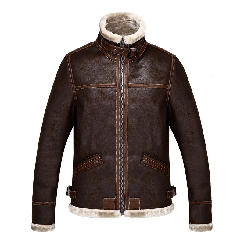 Resident Evil 4 Leon Scott Kennedy Warm Leather Jacket Costume