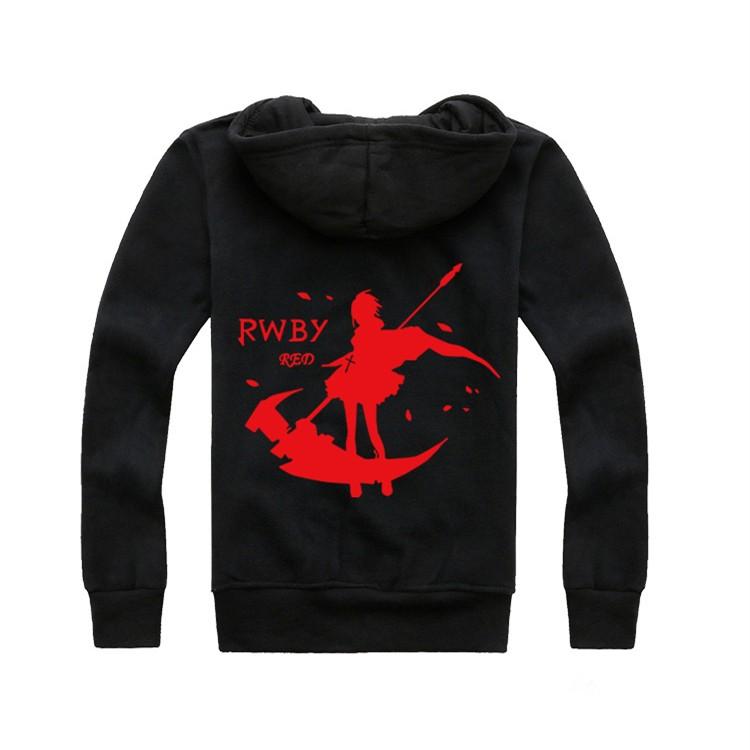 RWBY Red Trailer Ruby Rose Zipper Hoodie