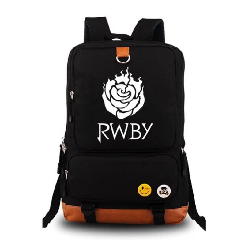 RWBY Red Trailer Ruby Rose Logo Luminous Canvas Backpack