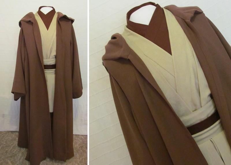 Star Wars Obi-Wan Jedi Master Original Costumes Cosplay - Deluxe Version