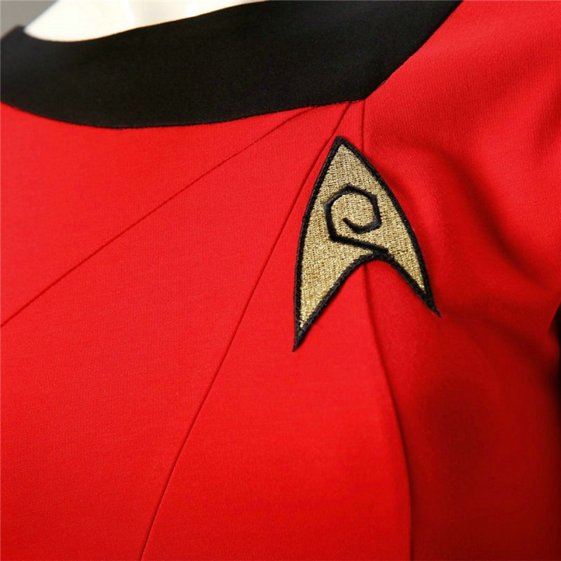 Star Trek Cosplay Female Duty TOS Red Uniform Dress Costume