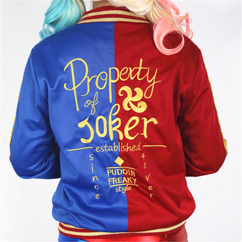 Suicide Squad Harley Quinn Women's Jacket Coat Cosplay Halloween Costume