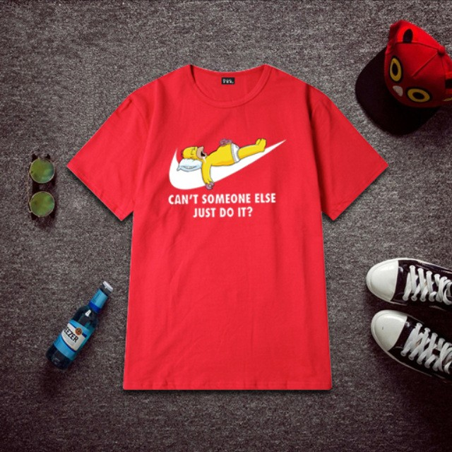 Timecosplay The simpsons Bart Simpson Just Do It Icon Men Tee Shirt