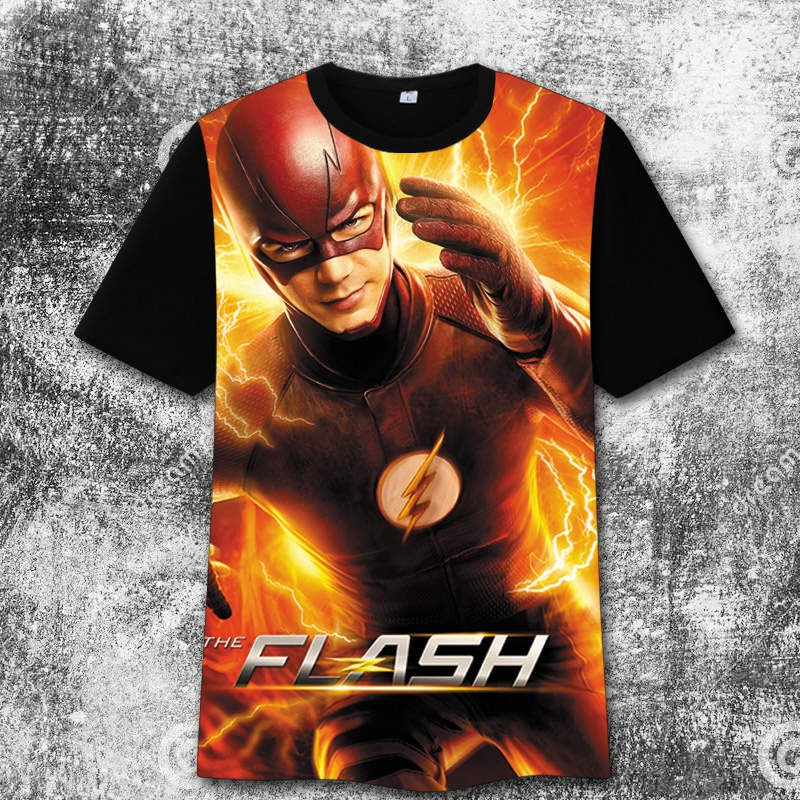 The Flash 3D iImage3 Print Harajuku Tee Shirt T-Shirts