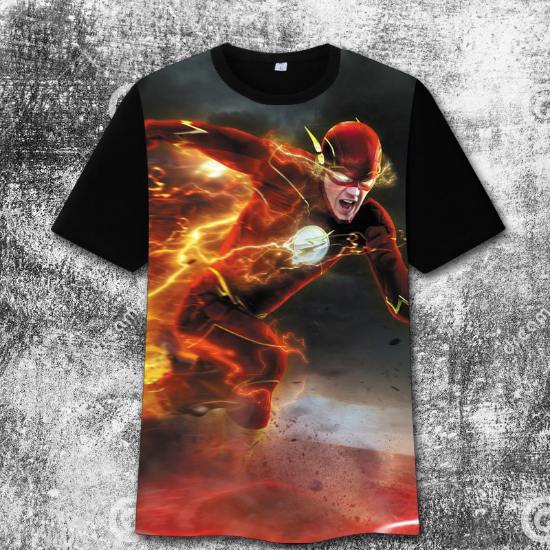 The Flash 3D Print Harajuku Tee Shirt T-Shirts