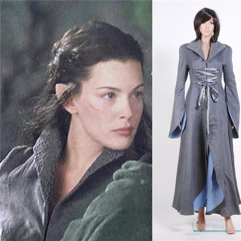 The Lord of the Rings Coplay Arwen Chase Long Dress Costume