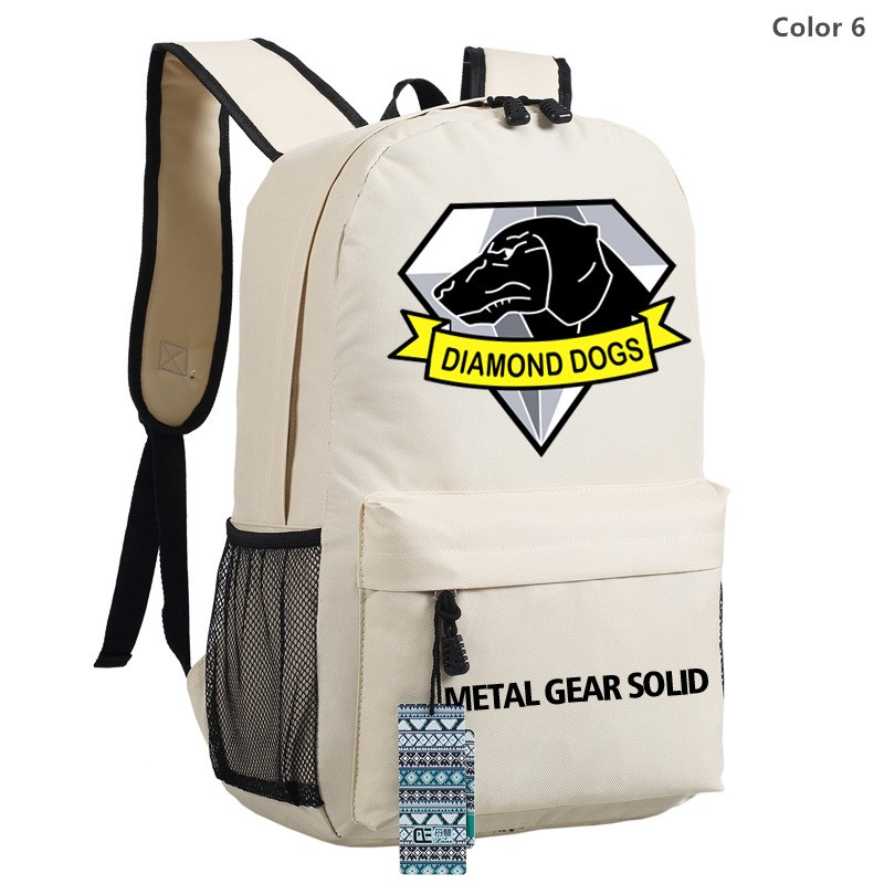 Timecosplay Metal Gear Solid V Diamond Dogs Logo Bag Schoolbag Backpack