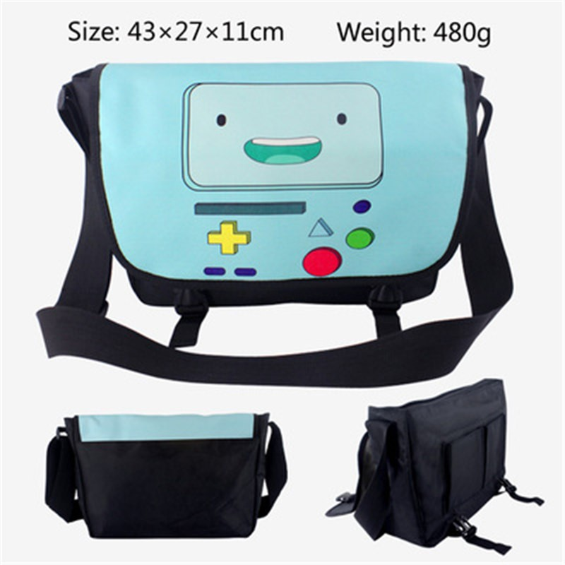 Timecosplay Adventure Time with Finn and Jake BMO Messenger bag