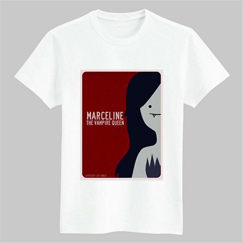Timecosplay Adventure Time with Finn and Jake Marceline the Vampire Queen Short Sleeve Tee Shirts