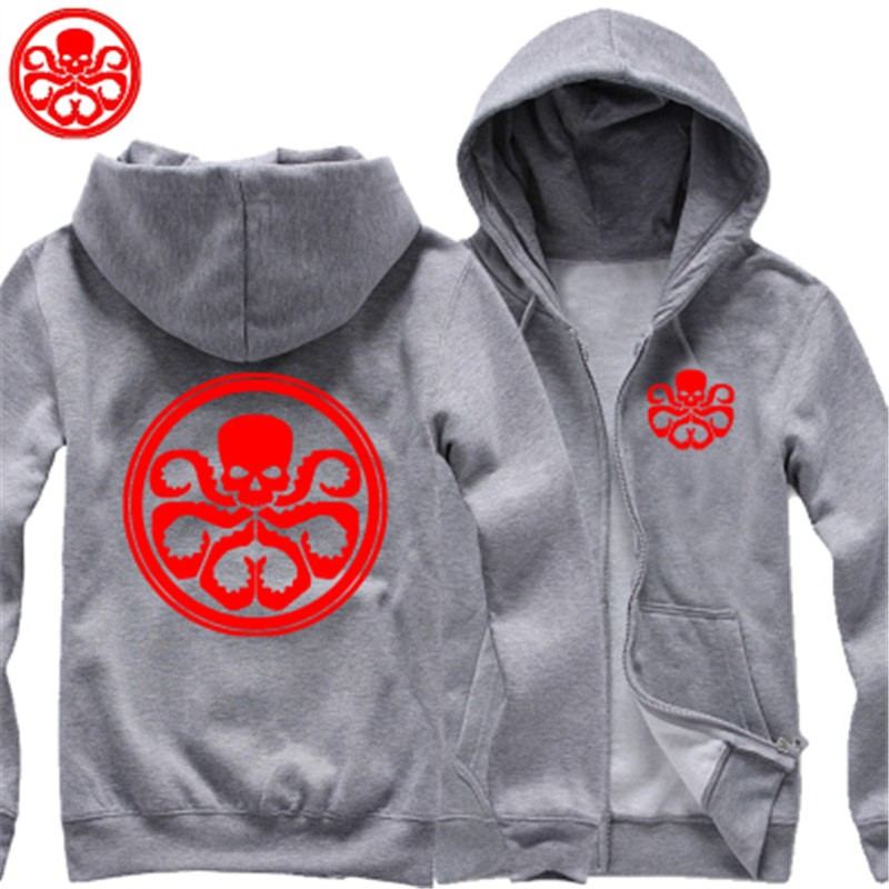 TimeCosplay Agents Of S.H.I.E.L.D Hydra Agents Logo Zipper Hoodies Sweatshirts