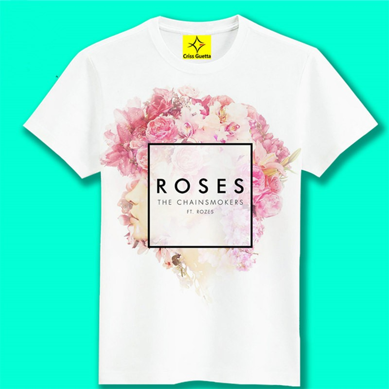 Timecosplay Alan Walker Faded Roses Men Short Sleeve Tee Shirts