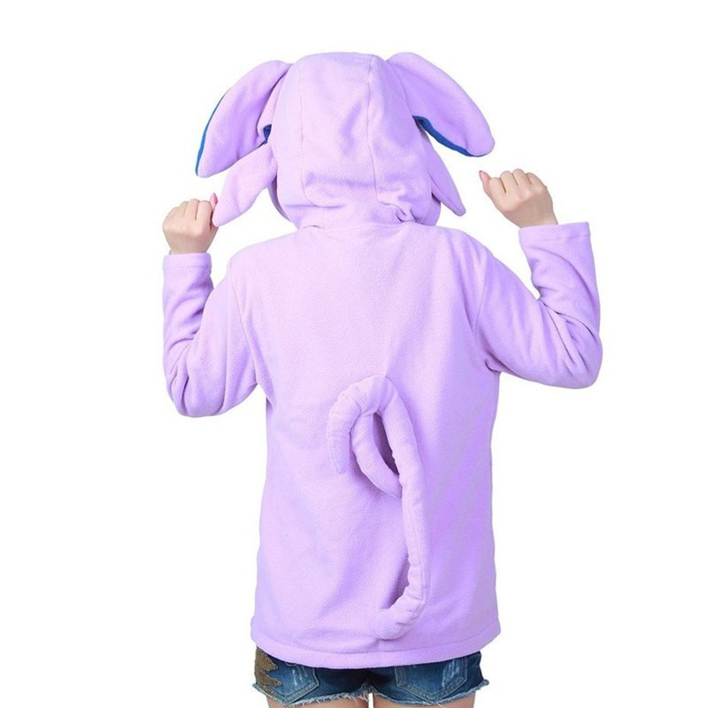 Timecosplay Anime Pokemon Go Cute Cartoon Stitch Espeon Cosplay Hoodie Kigurumi Sweater
