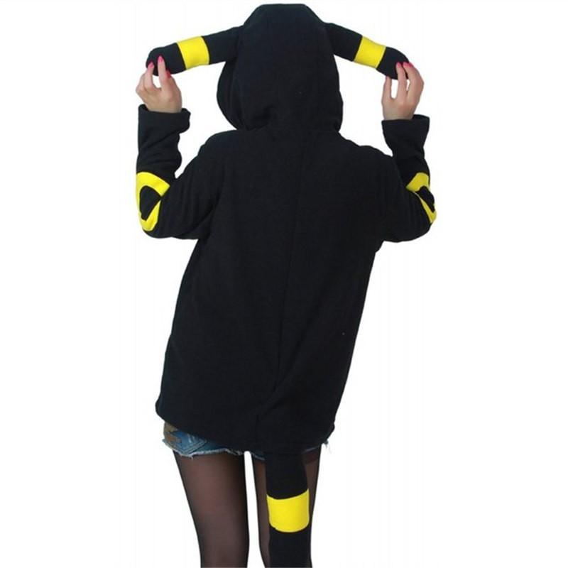 Timecosplay Anime Pokemon Go Umbreon Cosplay Hoodie Kigurumi Costume Sweater
