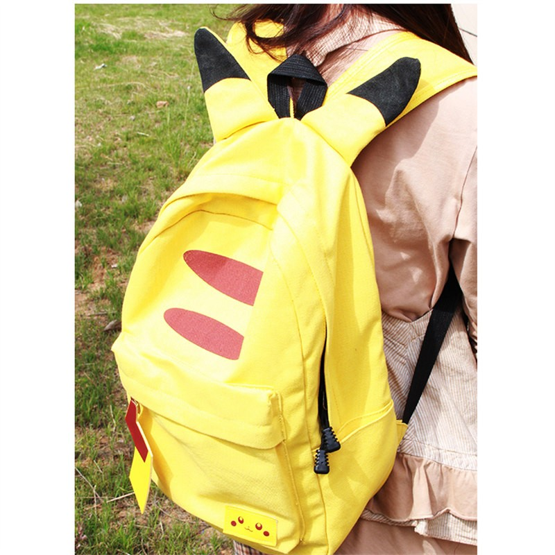 Timecosplay Anime Pokemon Pikachu Cosplay Backpack School Bag