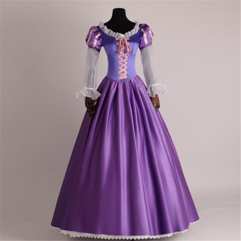 TimeCosplay Disney Tangled Princess Rapunzel Adult Cosplay Costume Dress - Deluxe Original Version