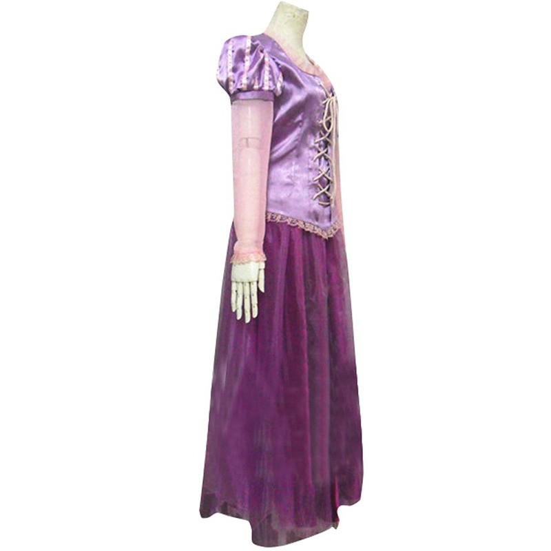 Timecosplay Disney Tangled Princess Rapunzel Adult Dress Cosplay Costume
