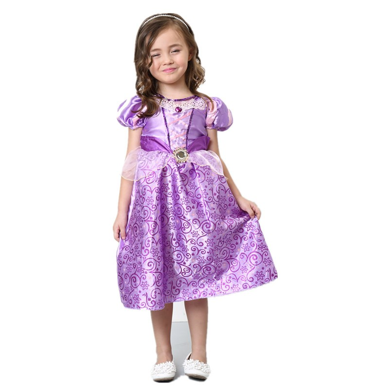 Timecosplay Disney Tangled Princess Rapunzel Dress Cosplay For Kids