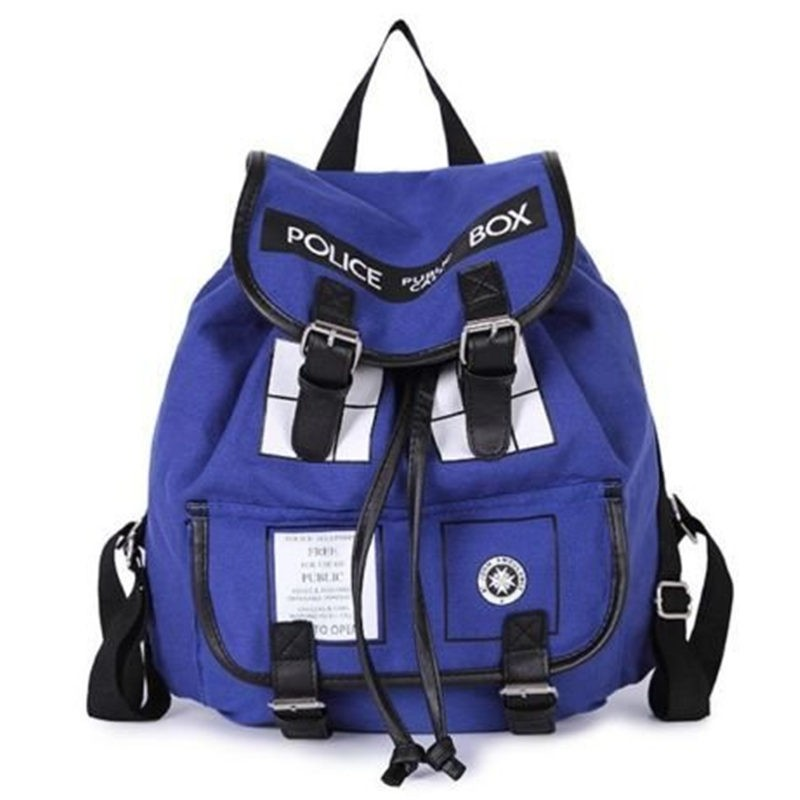 Timecosplay Doctor Who Police Box TARDIS Cosplay Fashion Travel Backpack Bag Schoolbag