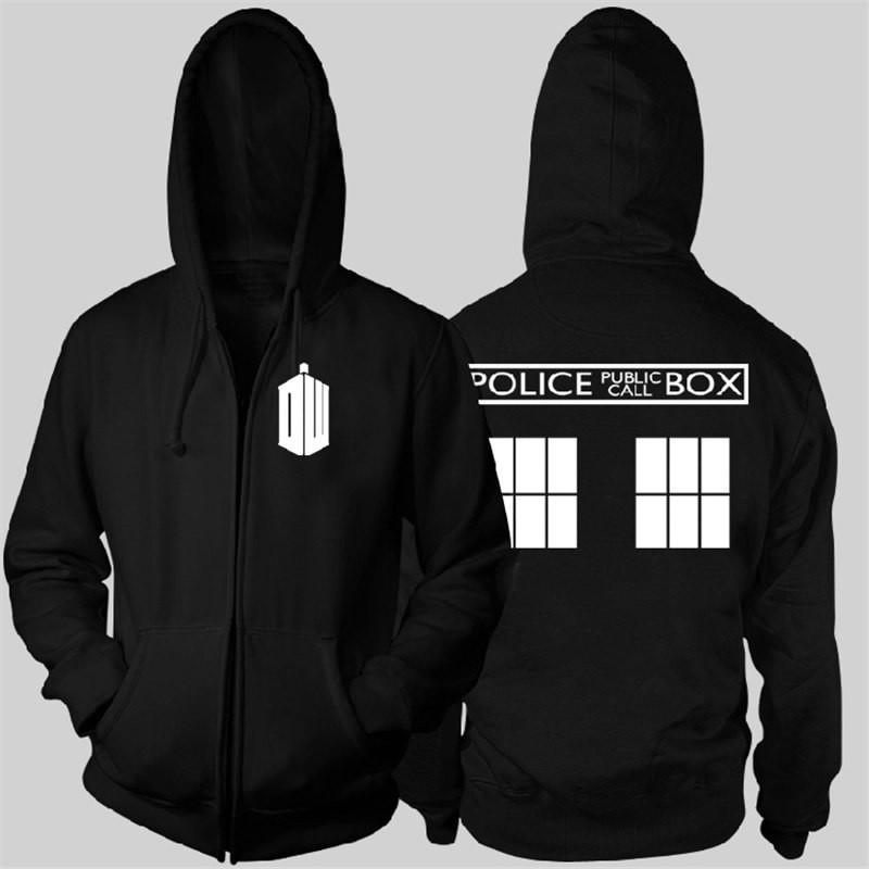 Timecosplay Doctor Who POLICE BOX Zipper Hoodies