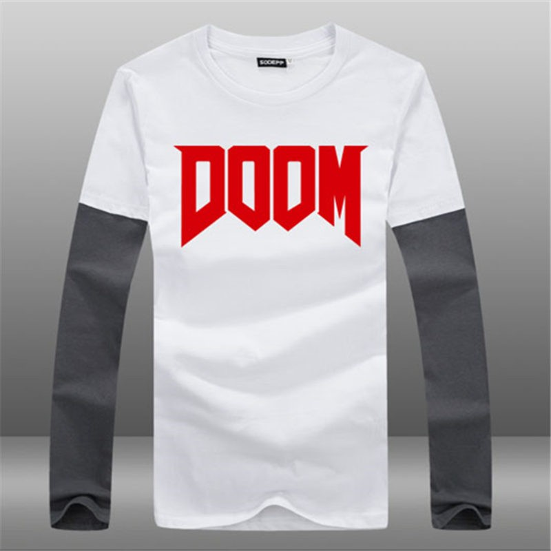 Timecosplay Game Doom4 Icon Short Sleeve Long TEE Shirts