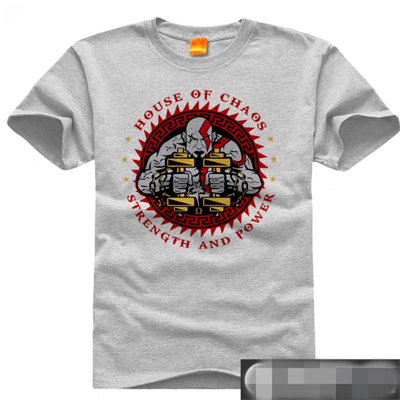 Timecosplay God Of War Kratos4 GYM Men Short Sleeve Tee Shirt
