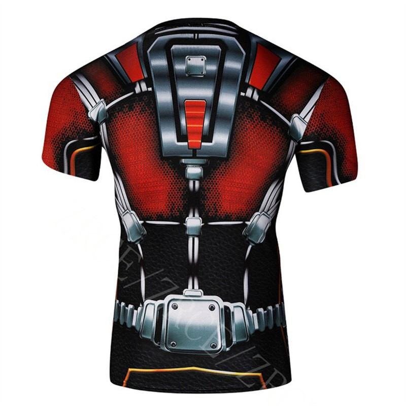 Timecosplay Marvel Superhero Ant Man Sport Tight Tops CosplayTee Shirt