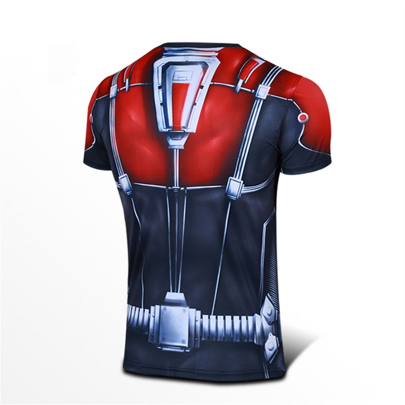 Timecosplay Marvel Superhero Ant Man Sport Tight TopsTee Shirt