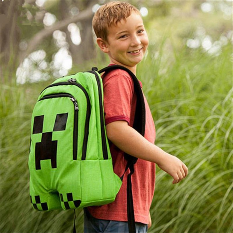Timecosplay Minecraft Creeper Cosplay Bag Schoolbag Backpack